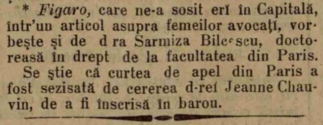 foto: articol ziarul Epoca, 15 oct. 1897
