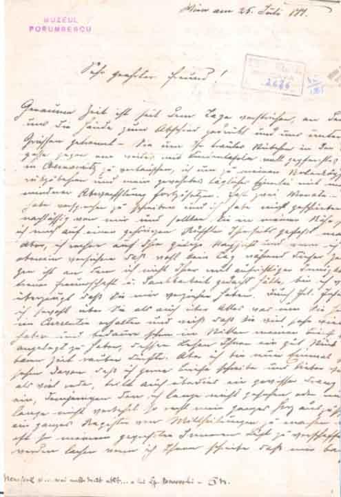 Scrisoare-Porumbescu
