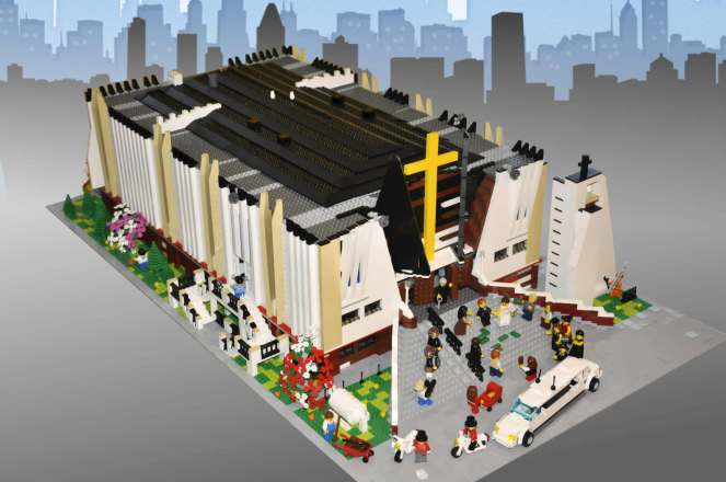 My LEGO moc of warsaw Lomianki Church