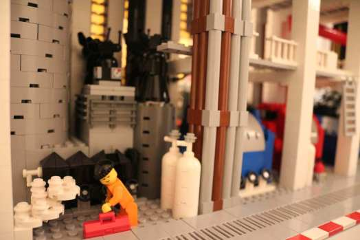 lego toy museum with personalized lego education models