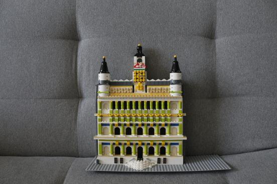 The city of blocks designed by custom LEGO toy designer