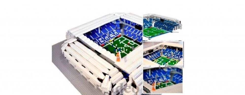 LEGO model shop for olders, Town Stadium in Poznan build with bricks
