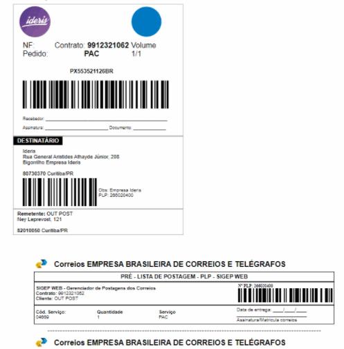 como imprimir etiquetas de envios Correios 3
