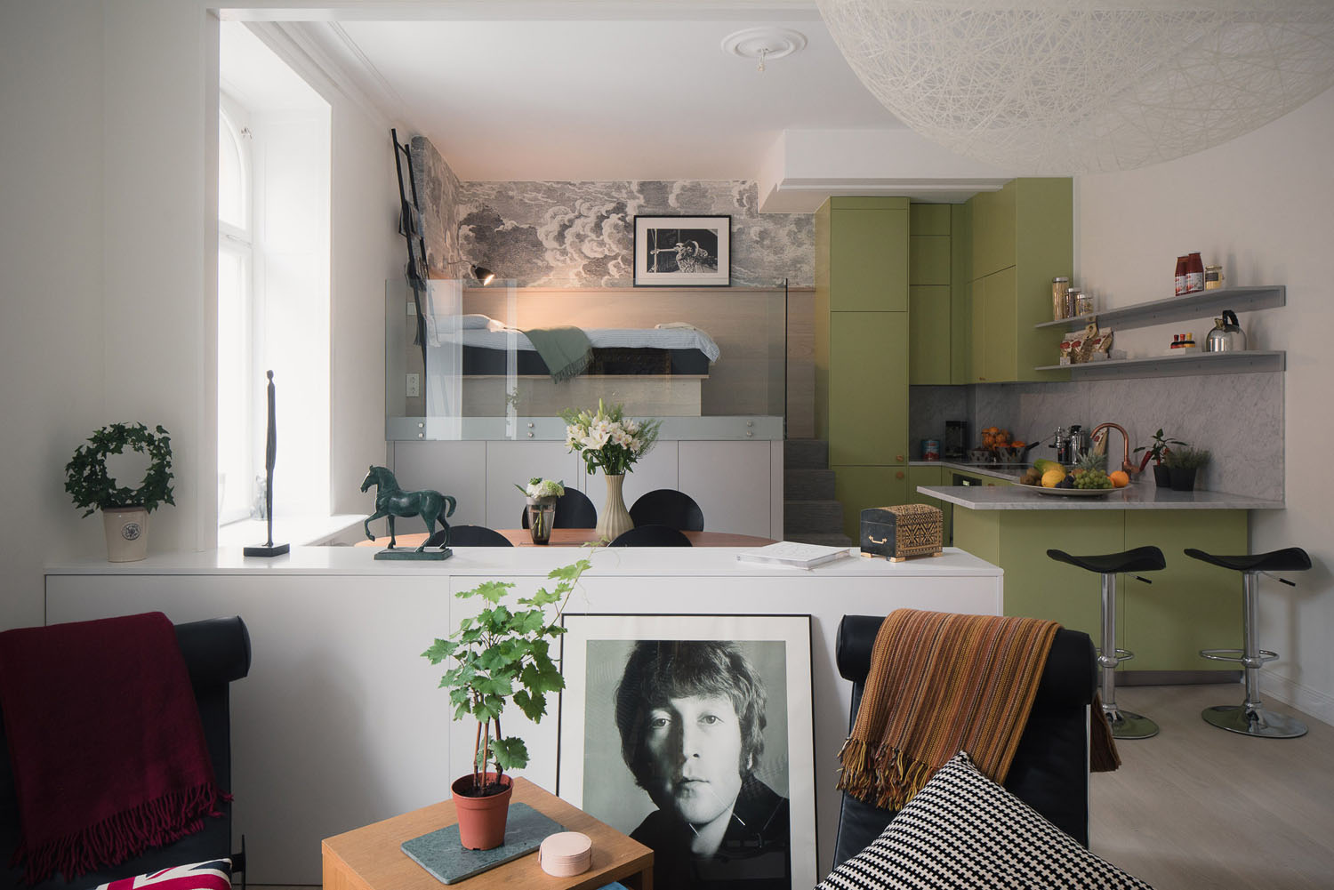Small Studio Apartment In Stockholm With Sleeping Loft IDesignArch Interior Design