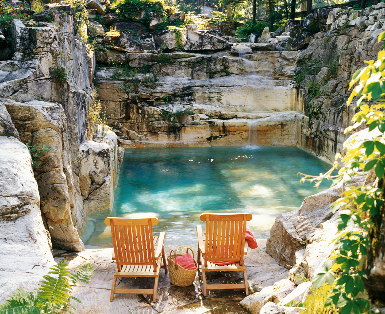 Backyard Quarry Swimming Pool Luxury Estate Massachusetts 2