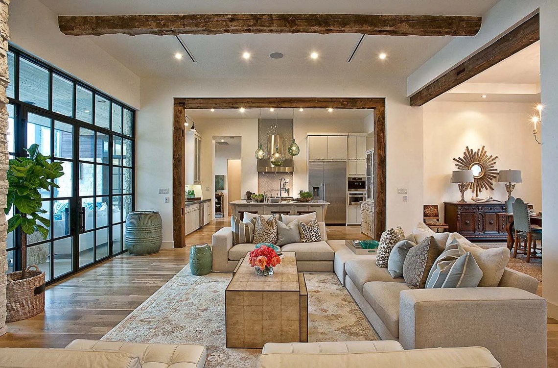 A Contemporary Home With Rustic Elements Connects To Its ...