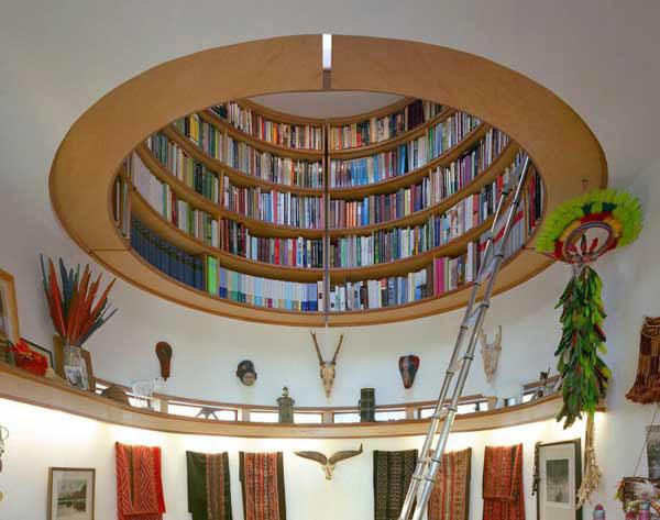 round bookcase plans