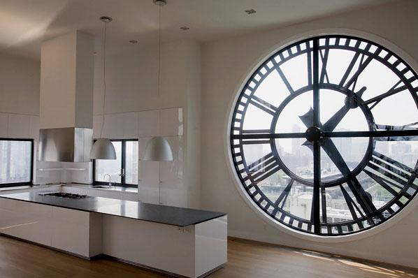 Clock Tower In Brooklyn