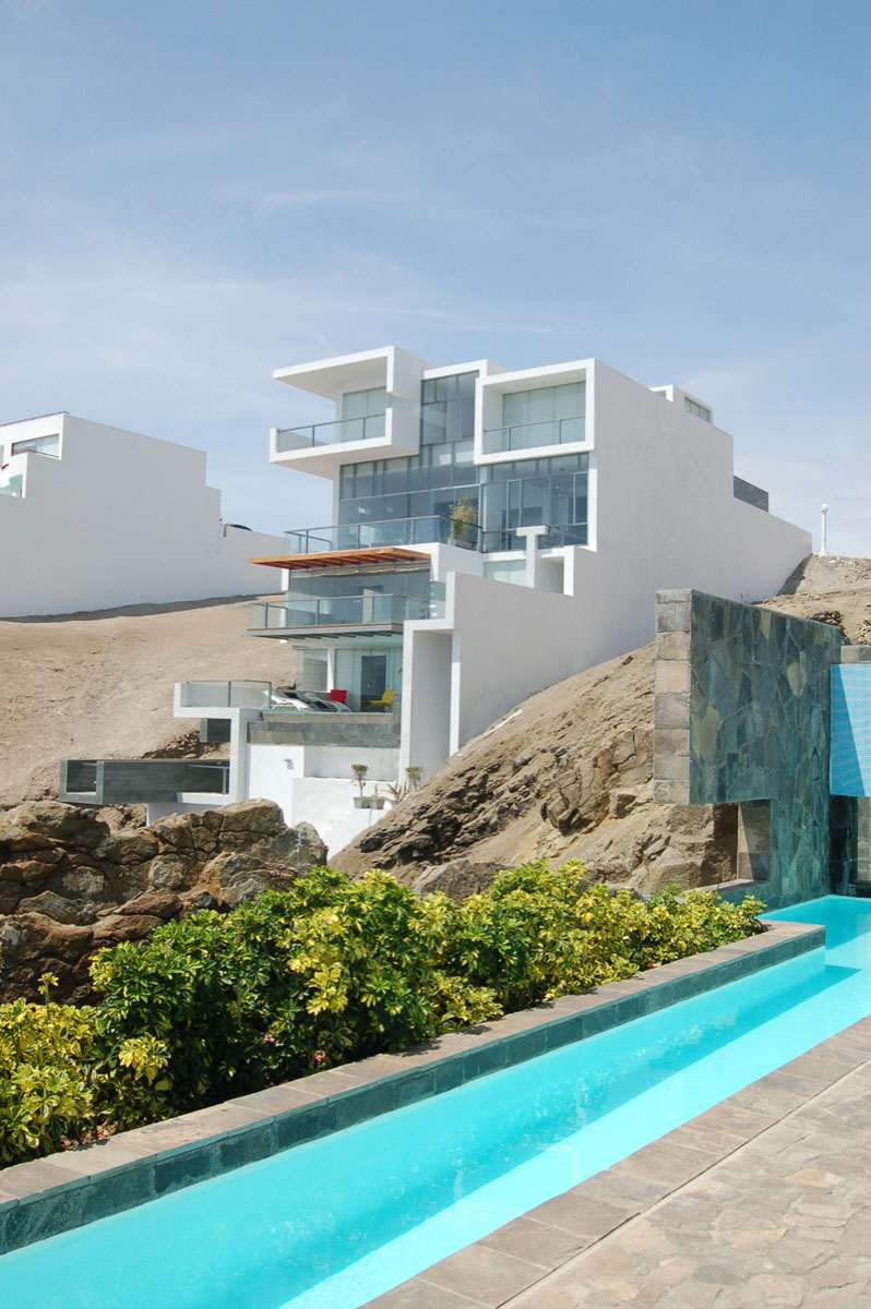 Contemporary Beach House With Terraces | iDesignArch ... on Modern:szae7Exnfpq= Amazing Houses  id=89666
