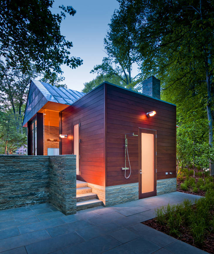 Contemporary Garden Pavilion Pool House Idesignarch