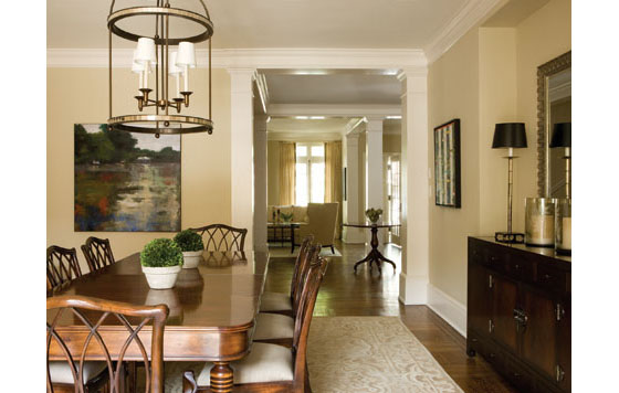 Traditional Row House With Modern Interior Design
