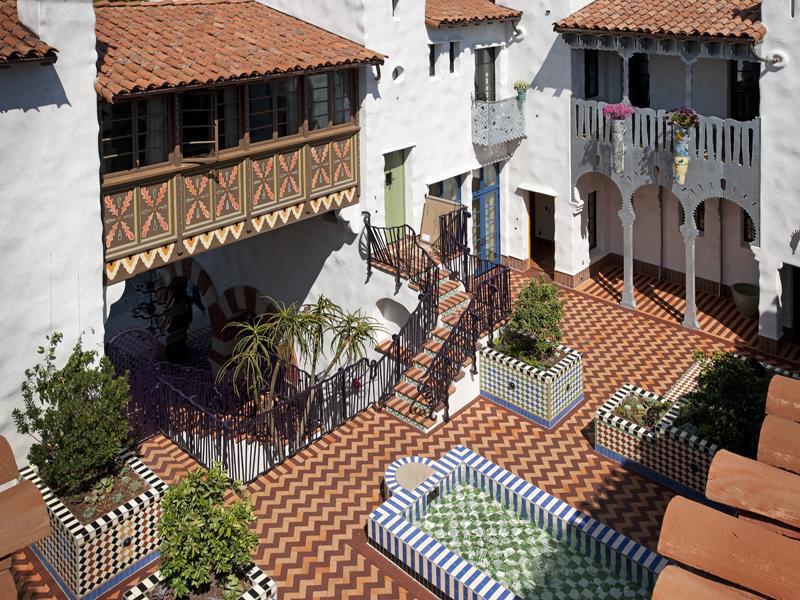 Moroccan Influenced Condominium Complex In Santa Barbara