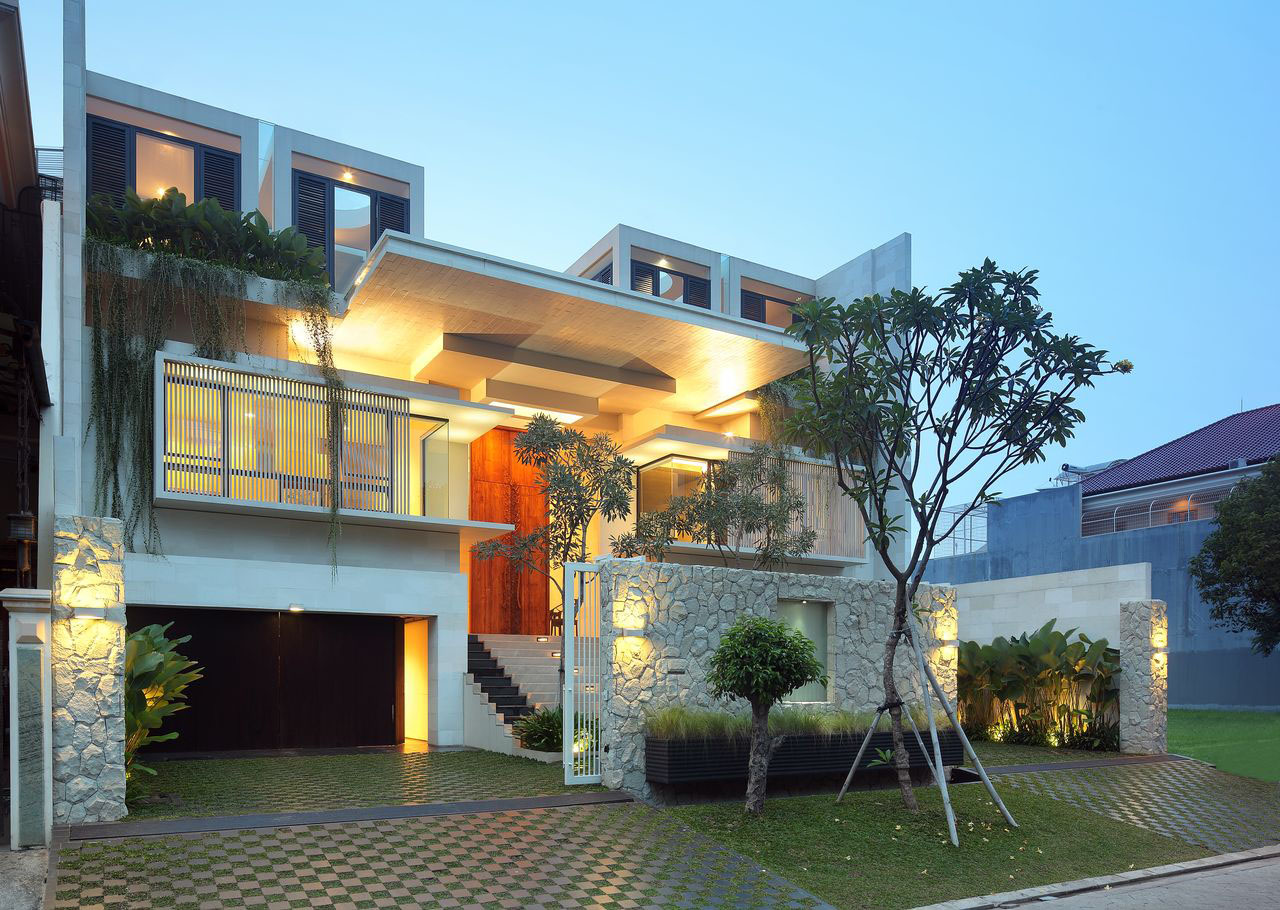 Luxury Garden House In Jakarta | iDesignArch | Interior ... on Interior:ybeqvfpgwcq= Modern House Ideas  id=23833