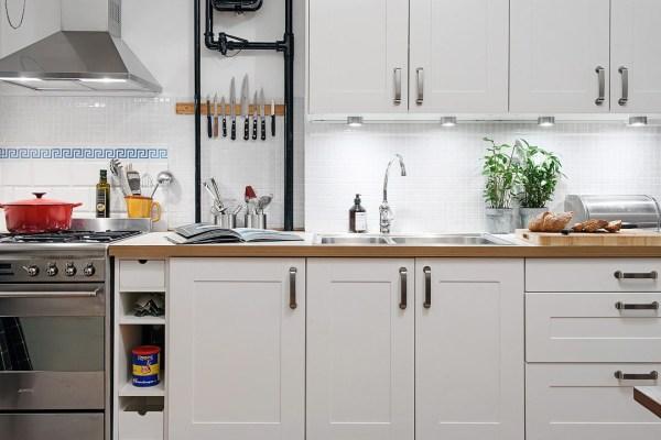 Modern Apartment White Kitchen