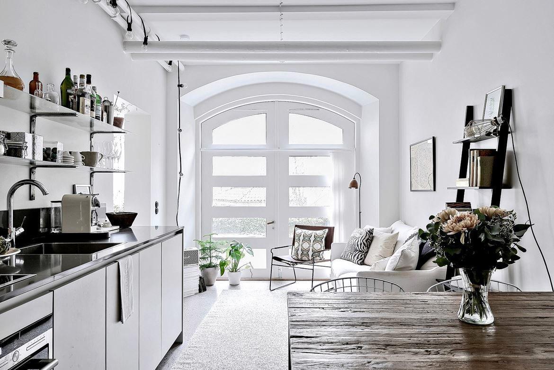 Chic Studio Apartment Divides Space With Glass Partition IDesignArch Interior Design