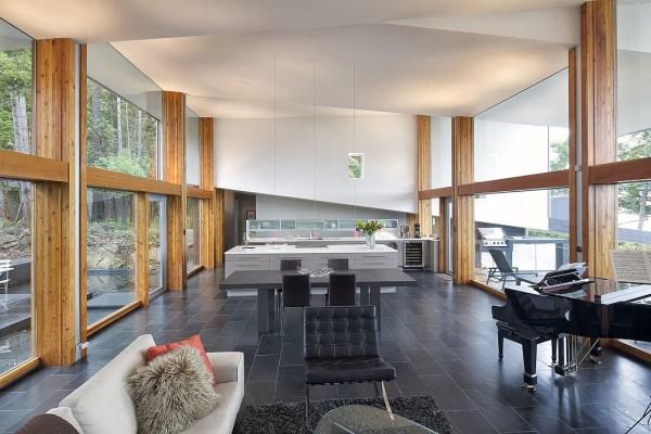 Architecturally Stunning Modern West Coast Island Retreat