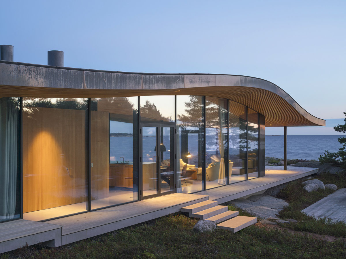Modern Sea Front Summer Glass House In Finland ... on Modern Glass House Design  id=31451