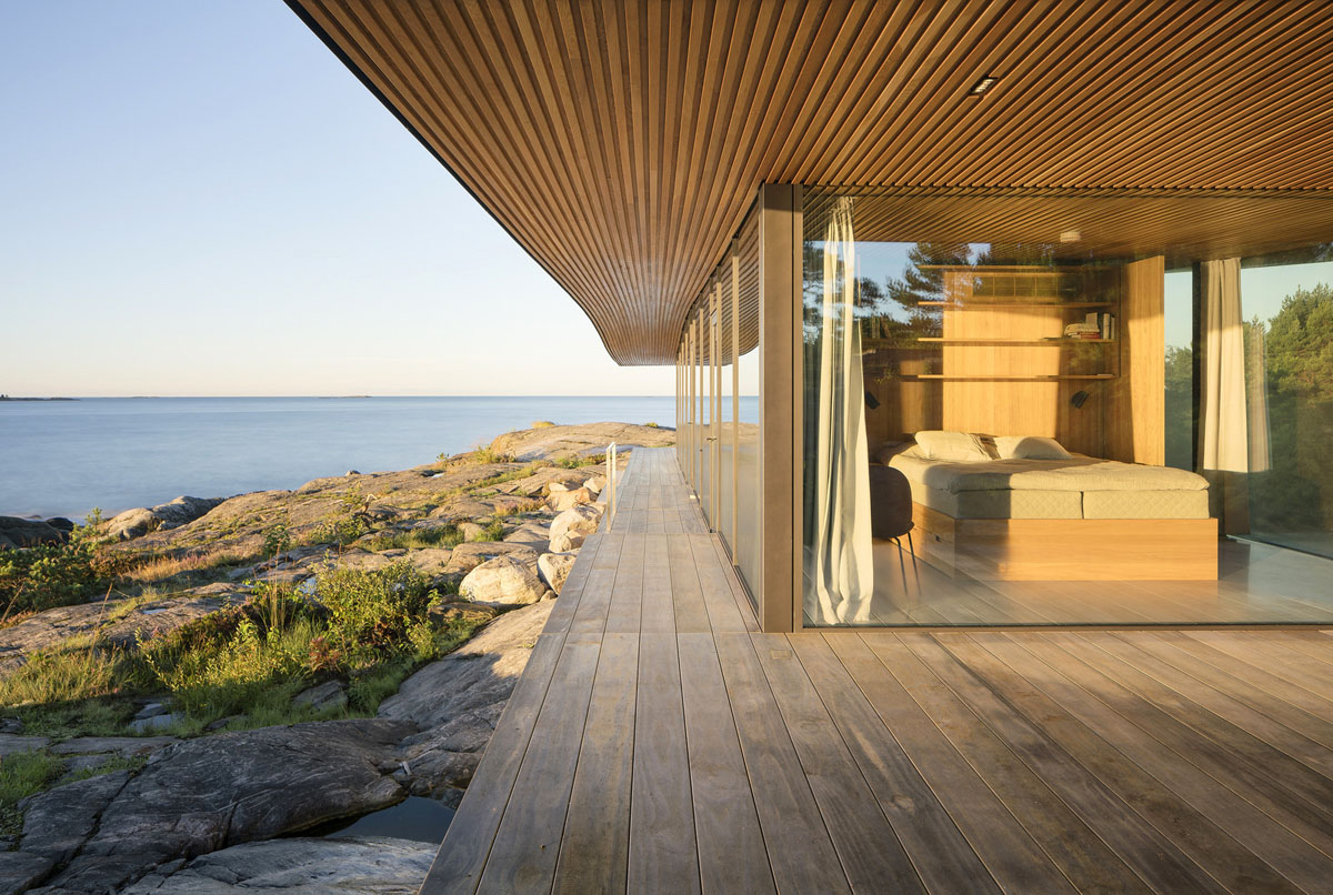 Modern Sea Front Summer Glass House In Finland ... on Modern Glass House Design  id=27792