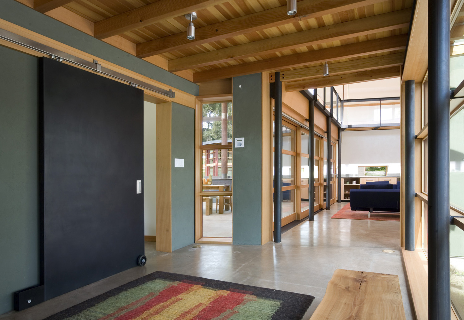 Modern Industrial Suburban House In Seattle With Curved Roof IDesignArch Interior Design