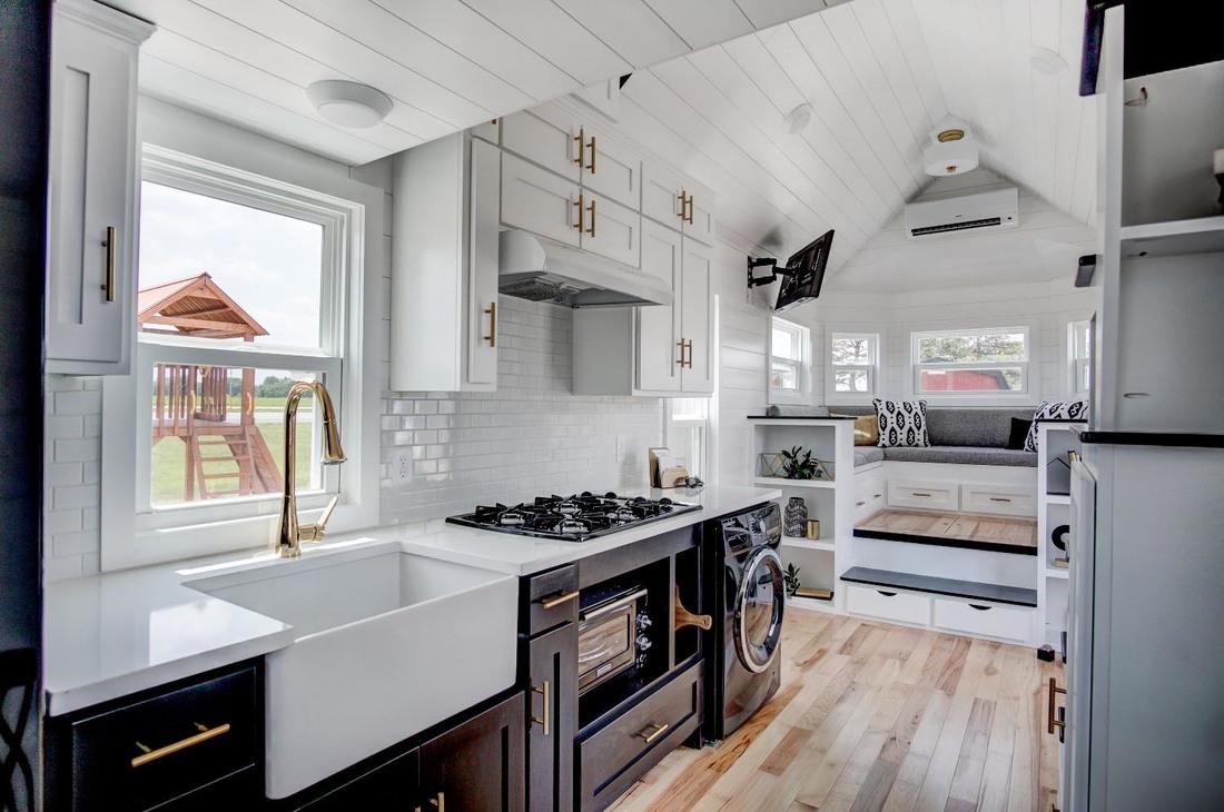 Beautifully Designed Tiny House with Luxury Kitchen and ... on Luxury Farmhouse Kitchen  id=73752