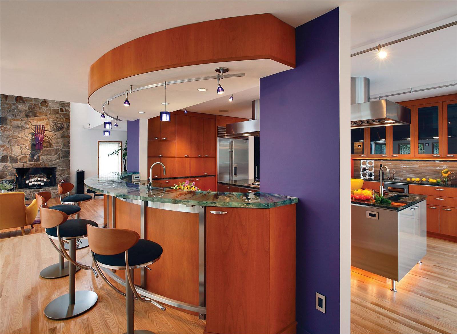 Open Contemporary Kitchen Design Ideas   iDesignArch ... on Modern Kitchen Decorations  id=64992
