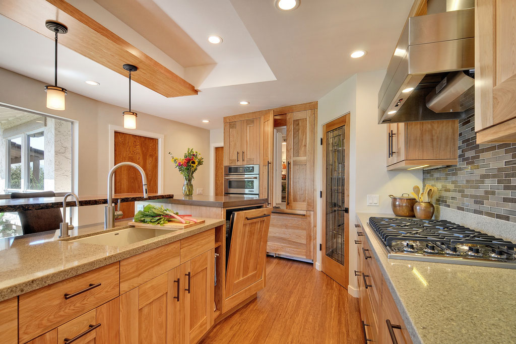 contemporary kitchen with quartz countertops and red birch on beautiful kitchen pictures ideas houzz id=27124