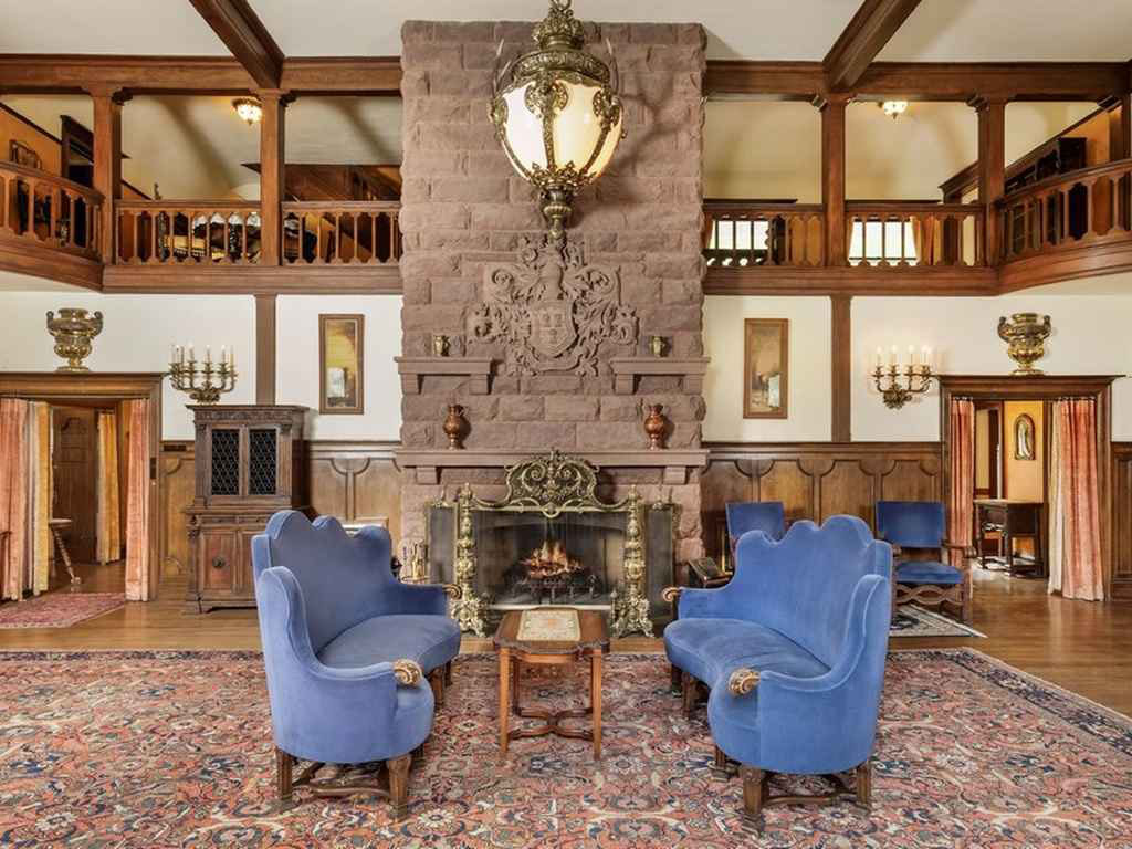 English Tudor Style American Castle In The Rocky Mountains