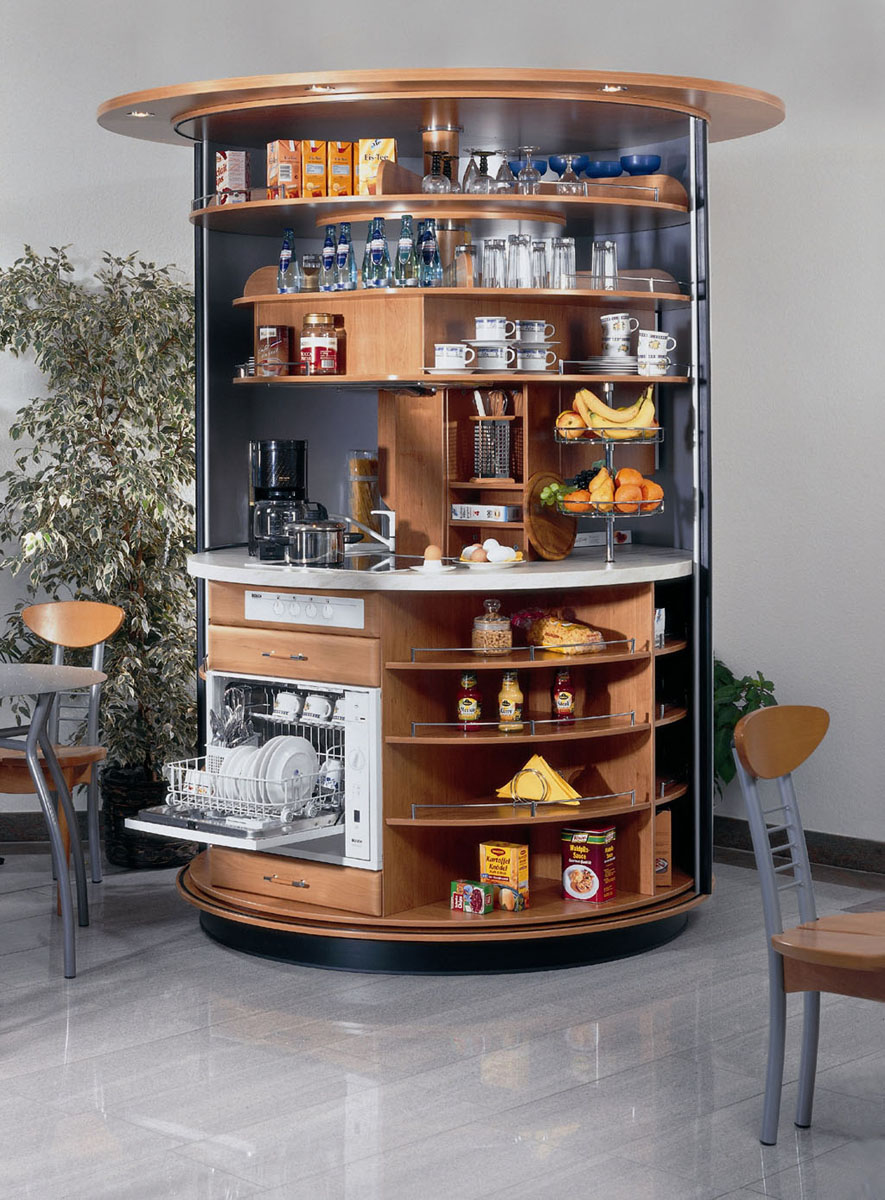 Revolving Circle Compact Kitchen Idesignarch Interior