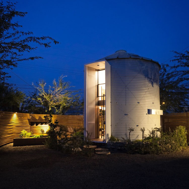 Grain Silo Converted Into A Cozy 340 Square Foot Small