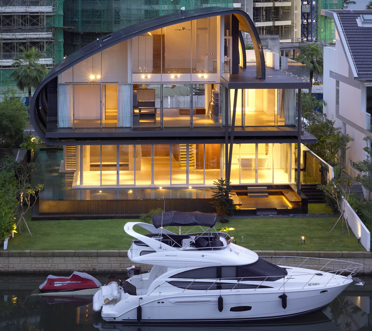 Nautical Inspired House By The Marina In Singapore IDesignArch Interior Design Architecture