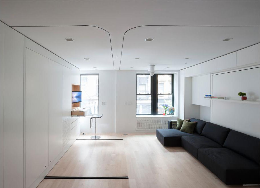 Compact Smart Studio Apartment In SoHo With Moving Wall