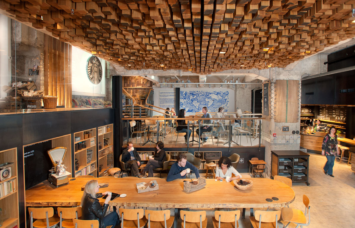 The Bank A Starbucks Coffee Theatre In Amsterdam