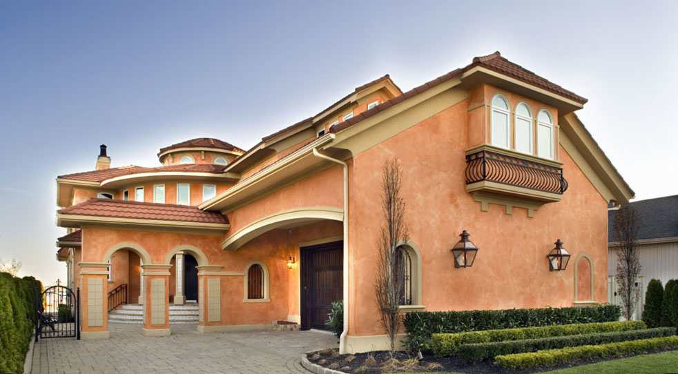 Mediterranean Style Home With Rustic Elegance