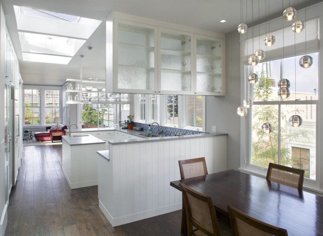 Modern Victorian Townhouse Contemporary Home Interior Design White Kitchen