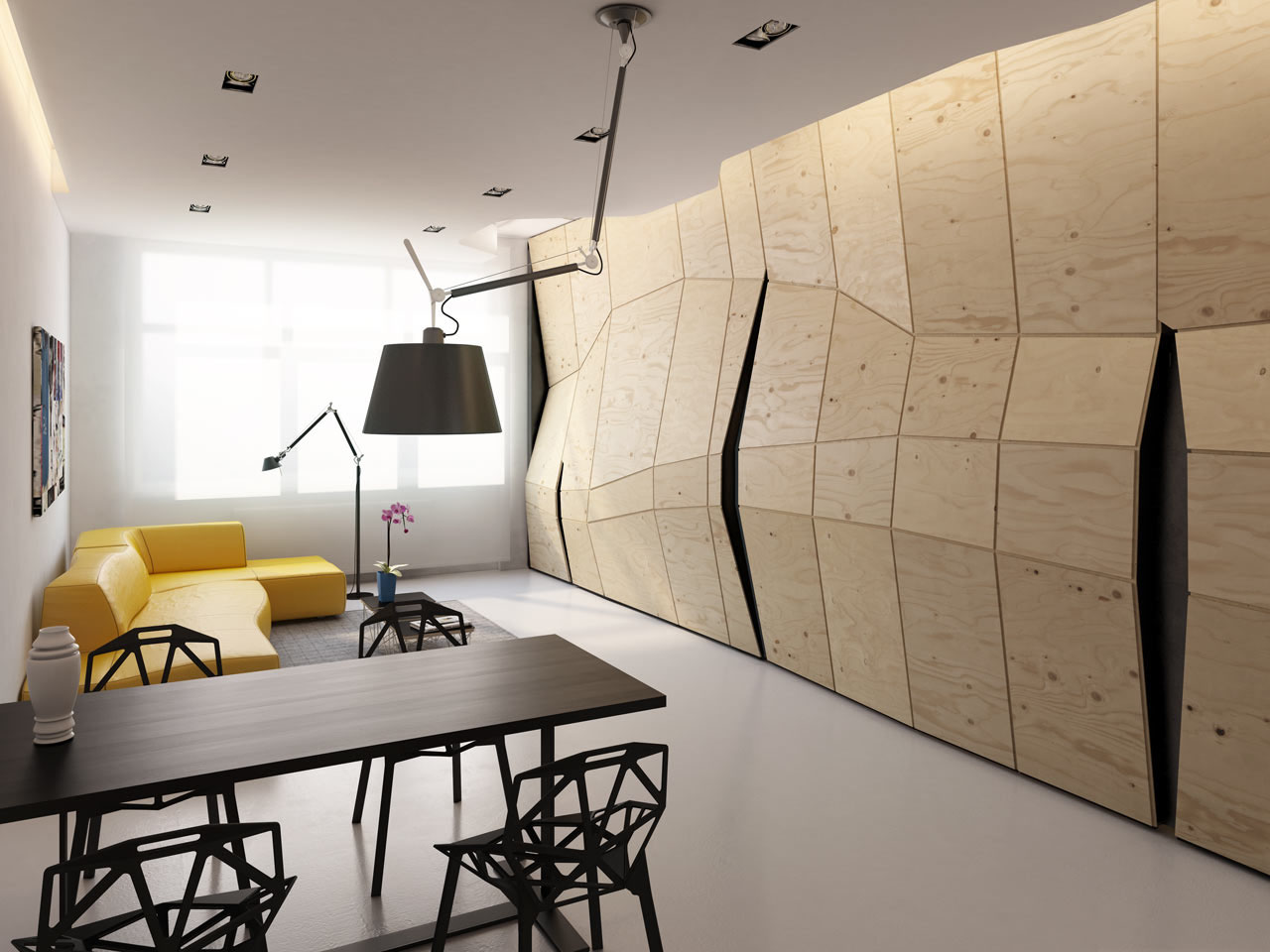 Convertible Apartment With Multi-Functional Elements  iDesignArch