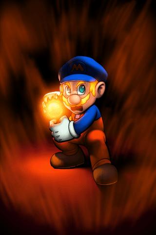 Super Mario Bros. Super Saiyan iPhone Wallpaper