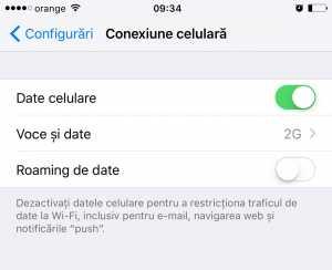 internet roaming iPhone