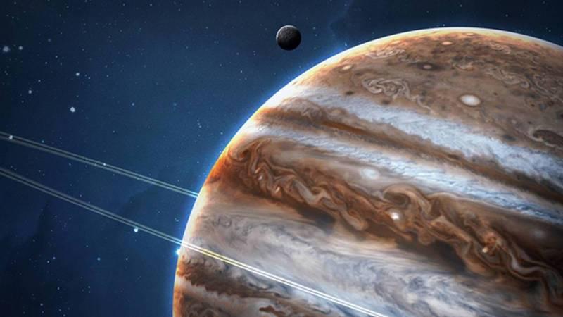 Planet Jupiter cyclones