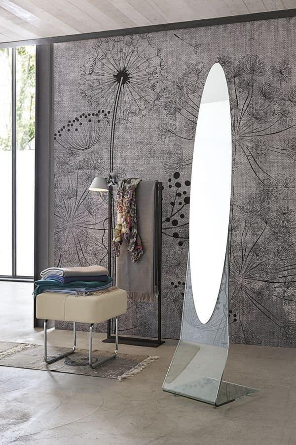 Trova una vasta selezione di specchi da terra a prezzi vantaggiosi su ebay. Floor Mirror Oval Frameless Idfdesign