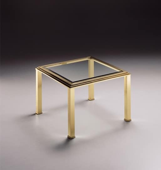 low square coffee table transparent