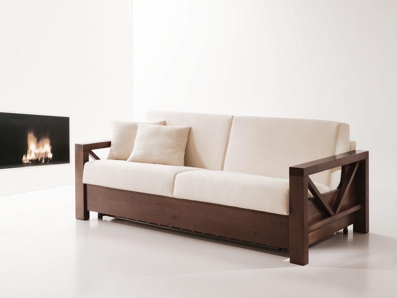 canape lit en bois convertible pour