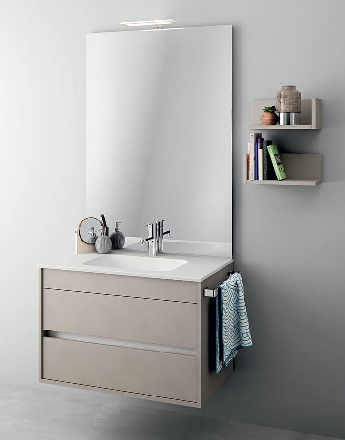 Meubles Monobloc Avec Miroir Pour Les Petites Salles De Bains Idfdesign
