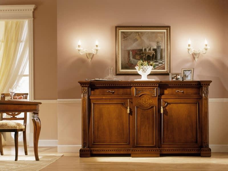 Tessuto bellissimo progettato in italia con garanzia 5 anni; Credenza Classica Di Lusso In Legno Massello Per Soggiorno Idfdesign