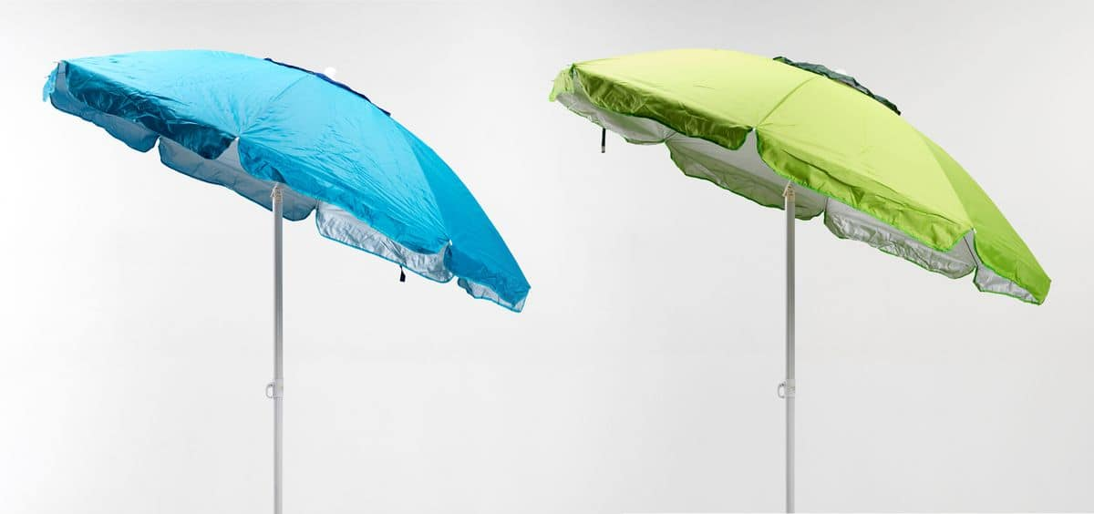 Sapevi che il rivestimento anti raggi ultravioletti dei grandi ombrelloni da spiaggia viene progressivamente eliminato dal tessuto nel tempo, e poi sarai bruciato da uv? Ombrellone Da Spiaggia Protezione Uva E Uvb Idfdesign