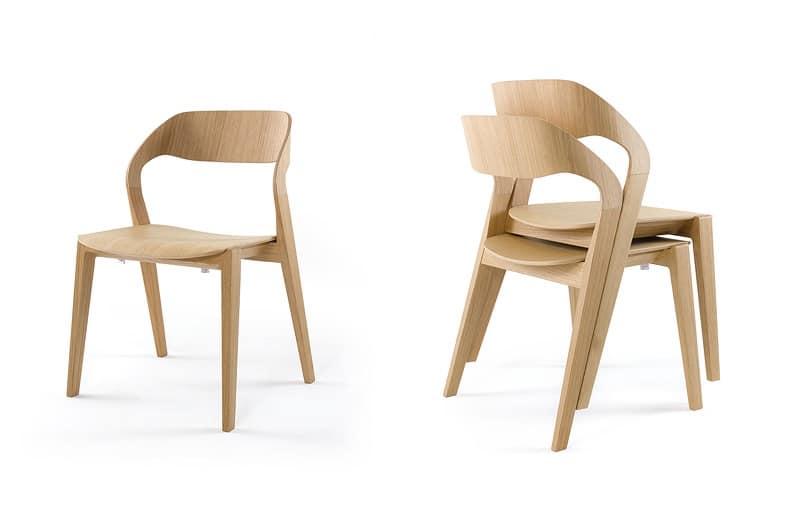 Scopri i modelli e le offerte disponibili: Sedia Design In Legno Impilabile Minimale Per Albergo Idfdesign