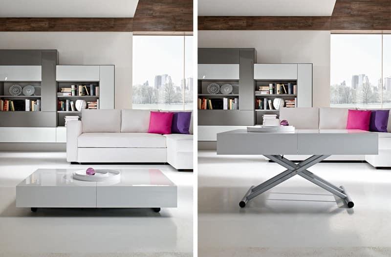 Tavolino Trasformabile Regolabile In Altezza Per Albergo