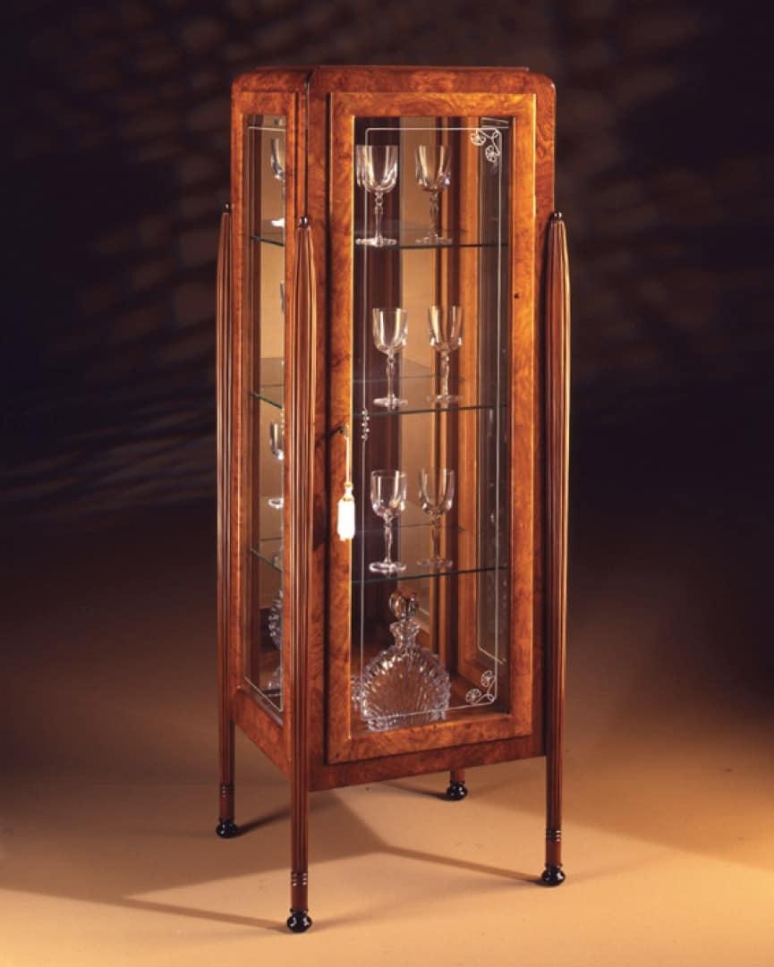 vitrinen in asche und zebrano mit 1