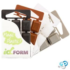 """Pack de 4 couleurs """"Bricolage DIY"""" ID-FORM : Noir, Marron, Blanc, Gris"""