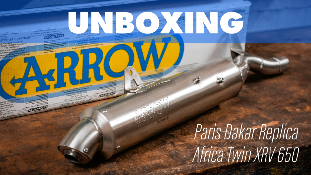 copertina-video-unboxing-scarico-arrow-paris-dakar-replica-africa-twin-xrv-650