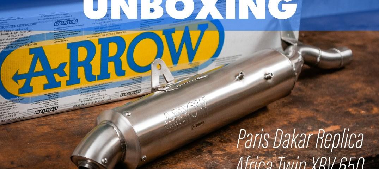 copertina-video-unboxing-scarico-arrow-paris-dakar-replica-africa-twin-xrv-650